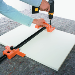 plantilla de taladrar para el alojamiento del perfil de soporte SD
